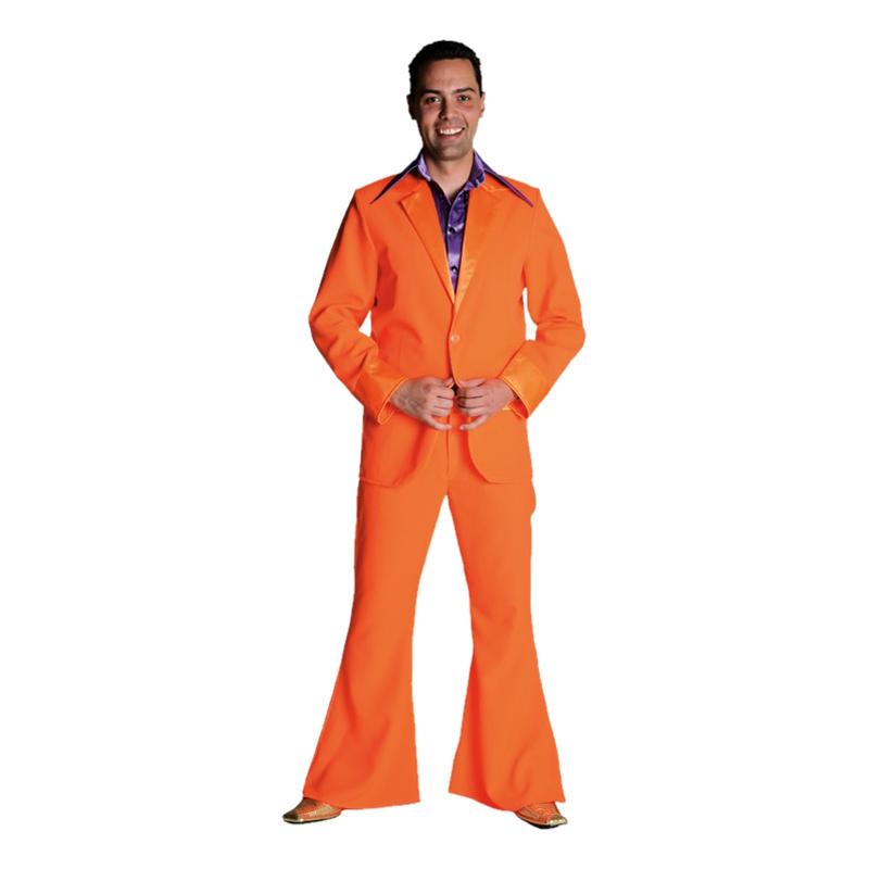 70-tals Kostym Orange Maskeraddräkt