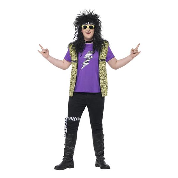 80-tals Rockstjärna Plus-size Maskeraddräkt