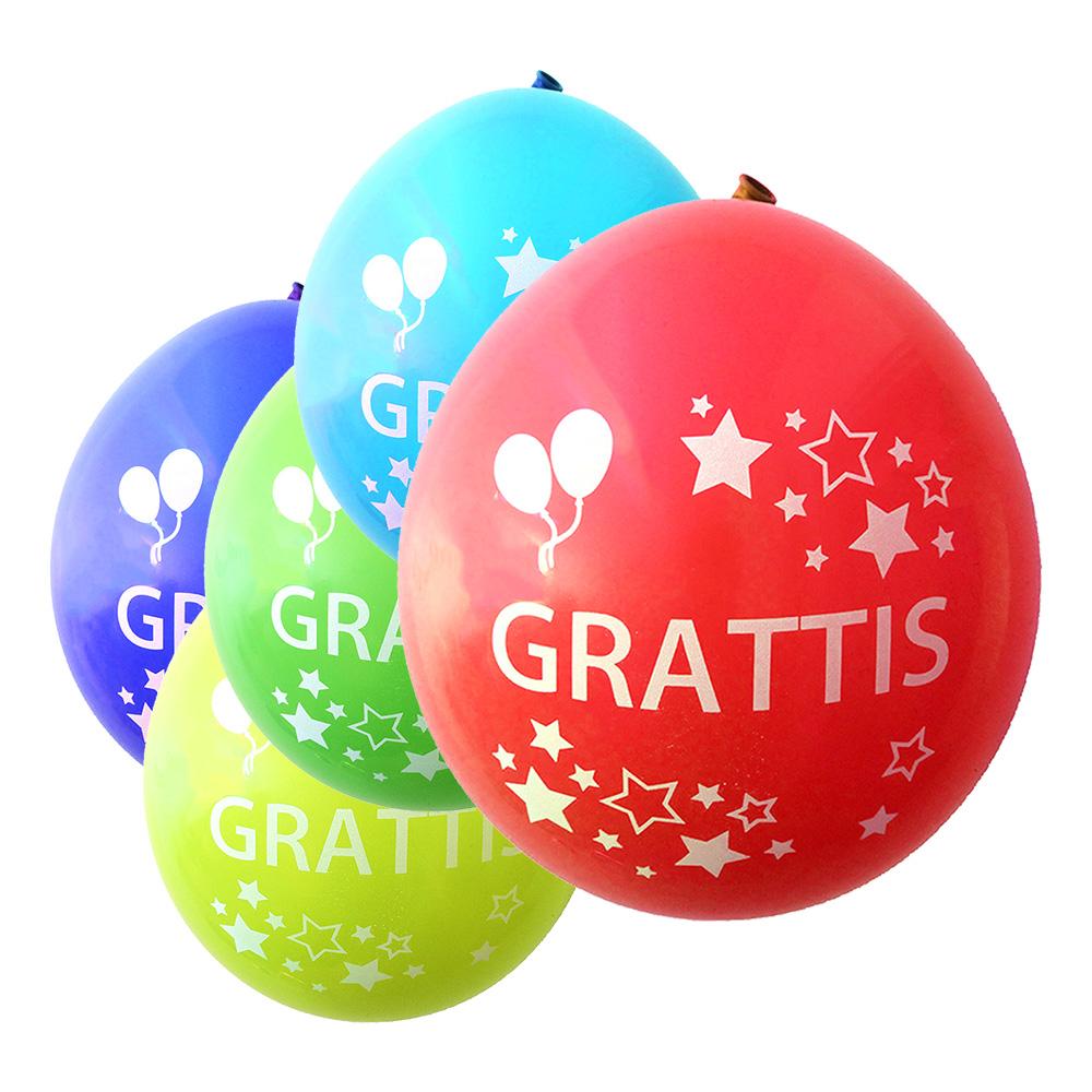 grattis Balloner GRATTIS med Stjerner   Partyking. dk grattis