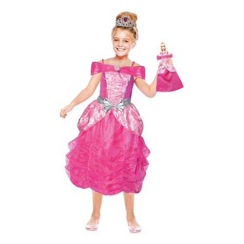 Barbie Med Dockklänning Barn Maskeraddräkt