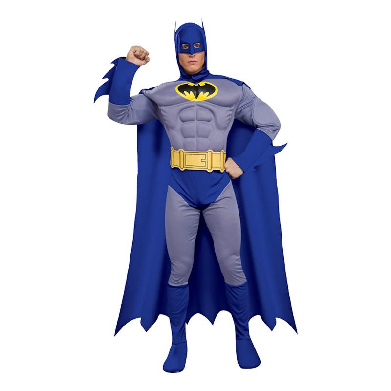 Batman Brave and Bold med Muskler Maskeraddräkt