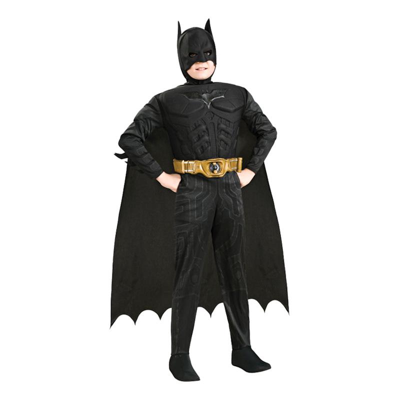 Batman Dark Knight med Muskler Barn Maskeraddräkt