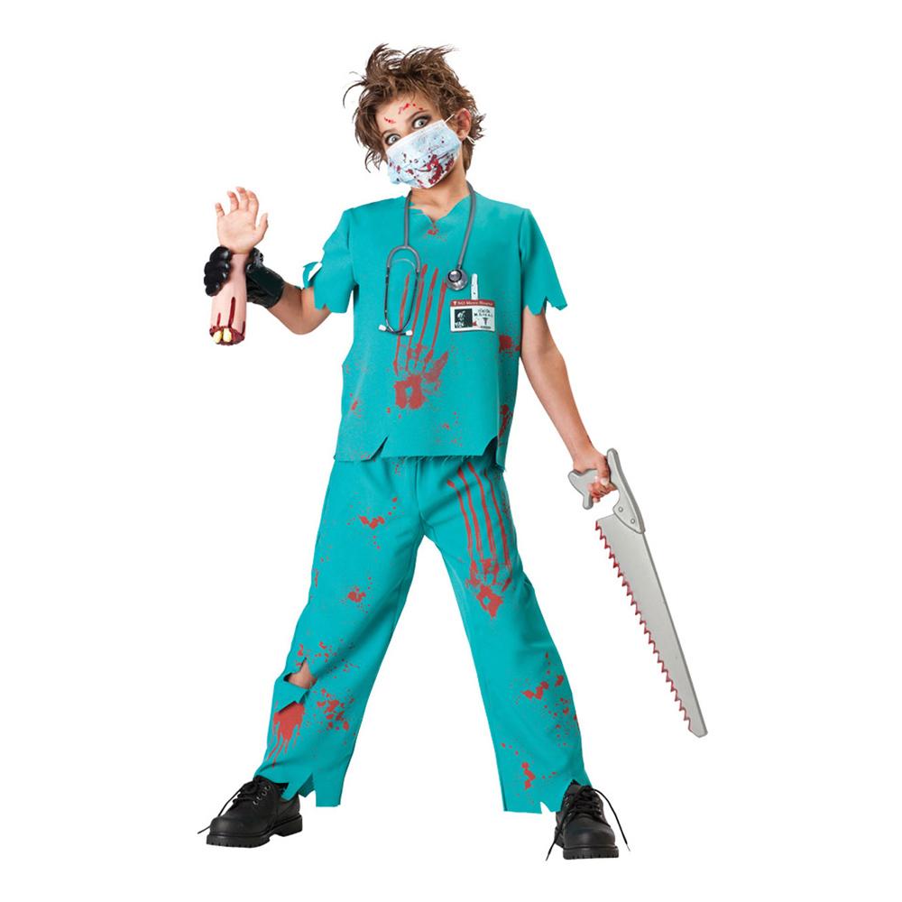 Blodig Doktor Barn Maskeraddräkt