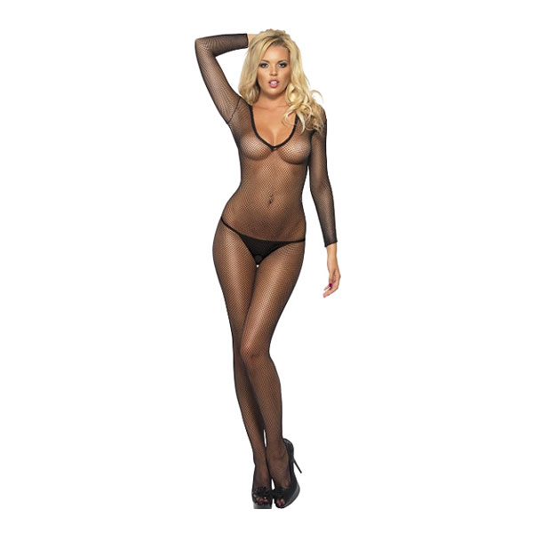 Bodysuit Fishnet Svart