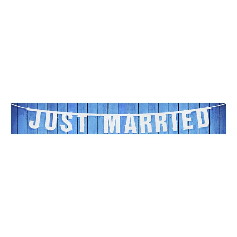 Bokstavsgirlang Vit Just Married