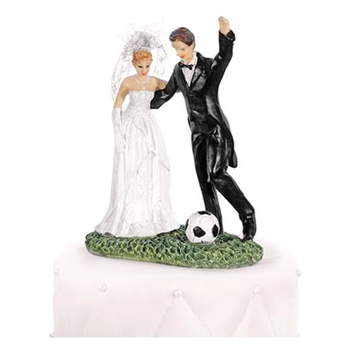 Bröllopsfigur Nygifta med Fotboll