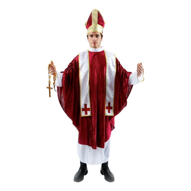 Kardinal Röd Maskeraddräkt
