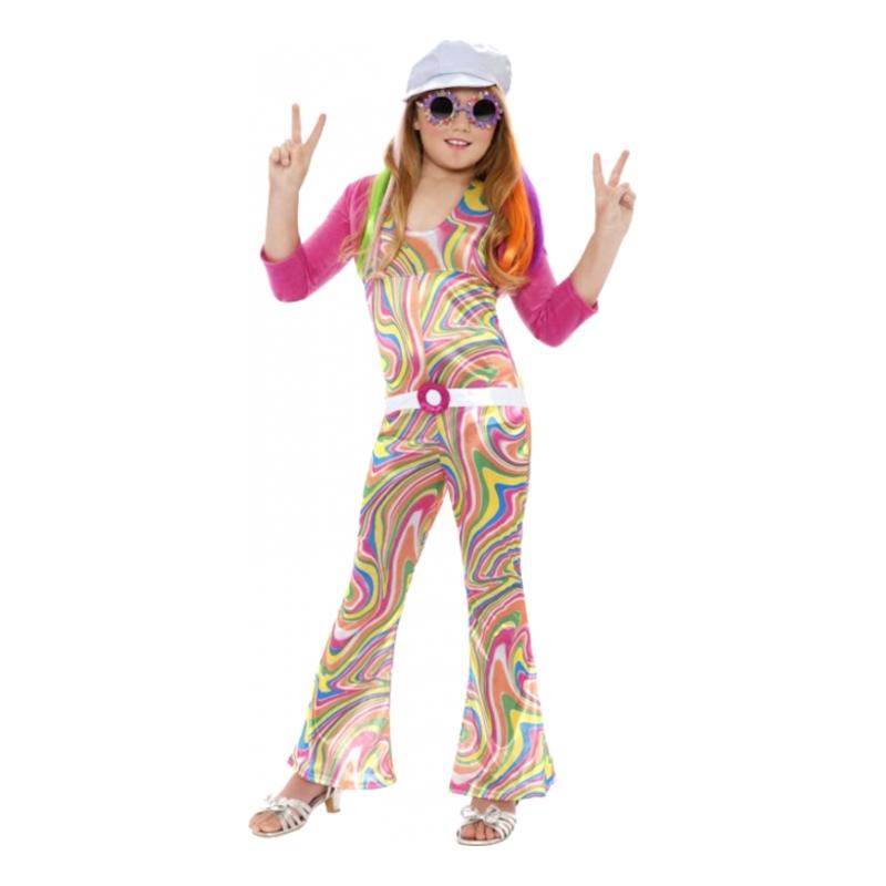 Maskeradkläder Barn - 60-tals Hippieflicka