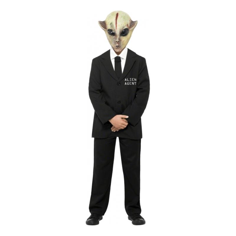 Maskeradkläder Barn - Alien Agent