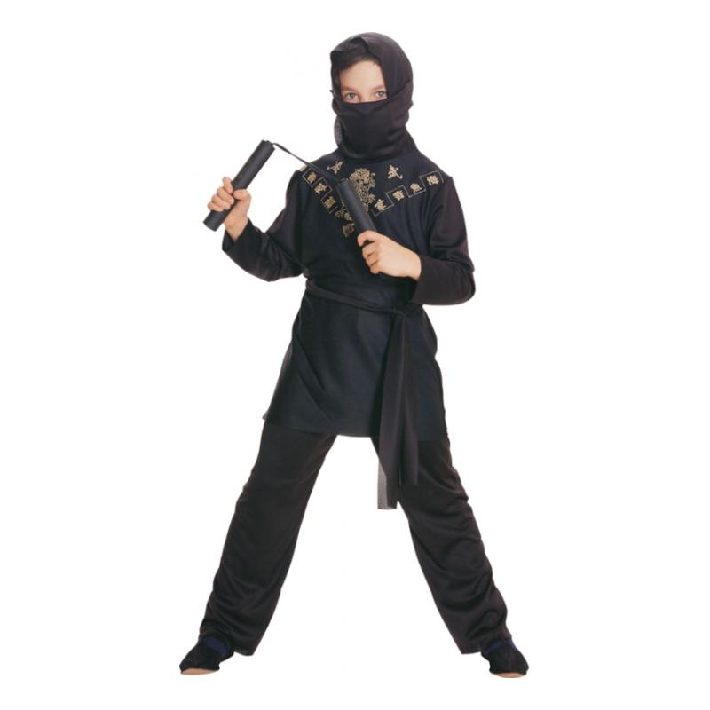 Svart Ninja Barn Maskeraddräk