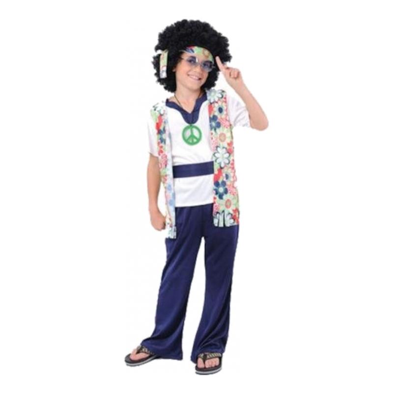Maskeradkläder Barn - Groovy Hippie Pojke