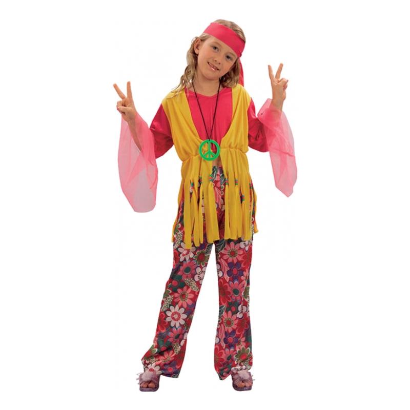 Hippieflicka Budget Barn Maskeraddräkt