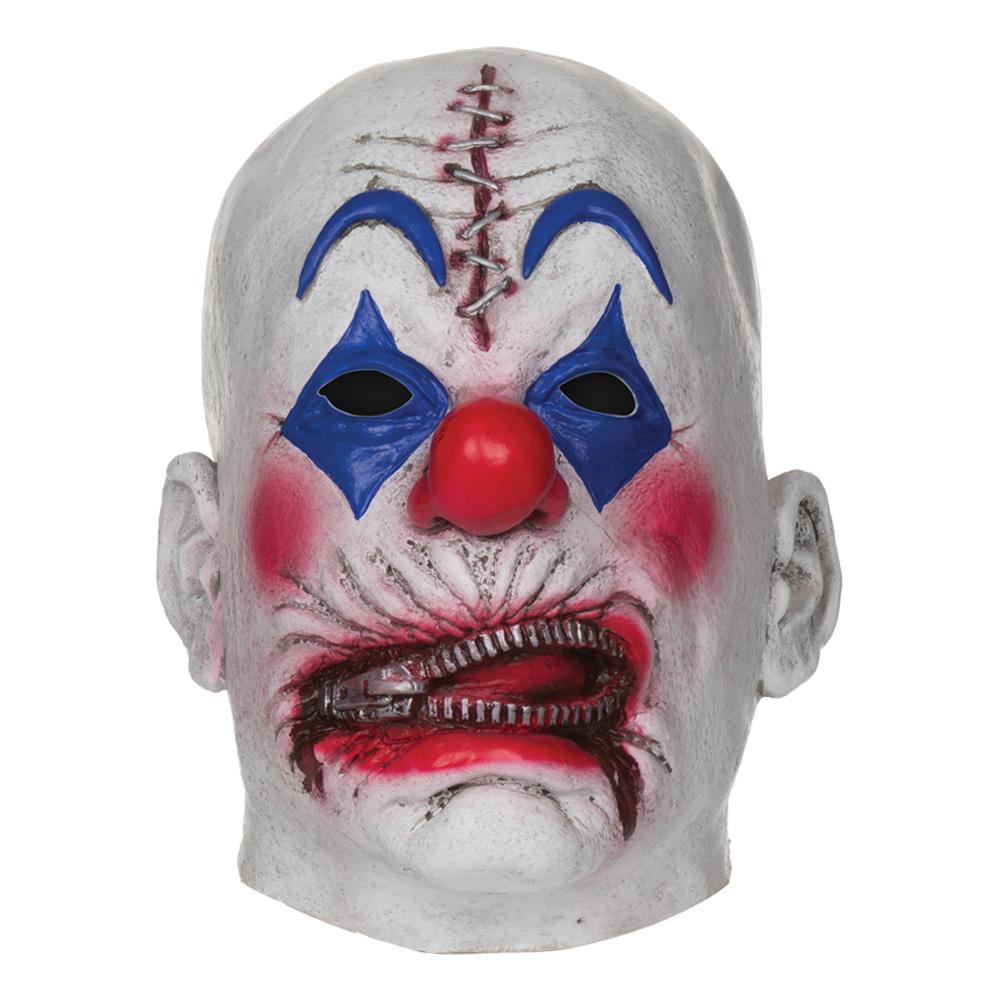 Clownmask med Dragkedja och Stygn
