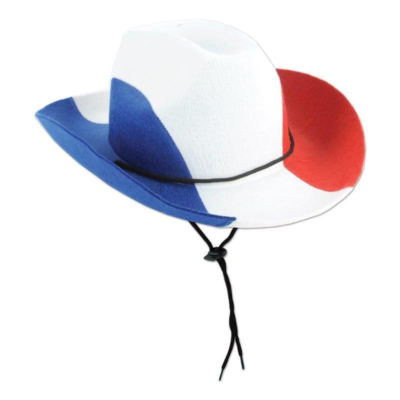 Cowboyhatt Blå/Vit/Röd