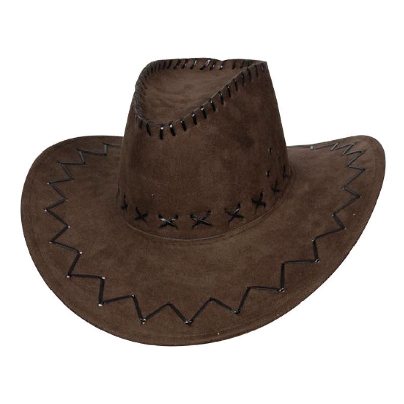 Cowboyhatt Brun med Stygn
