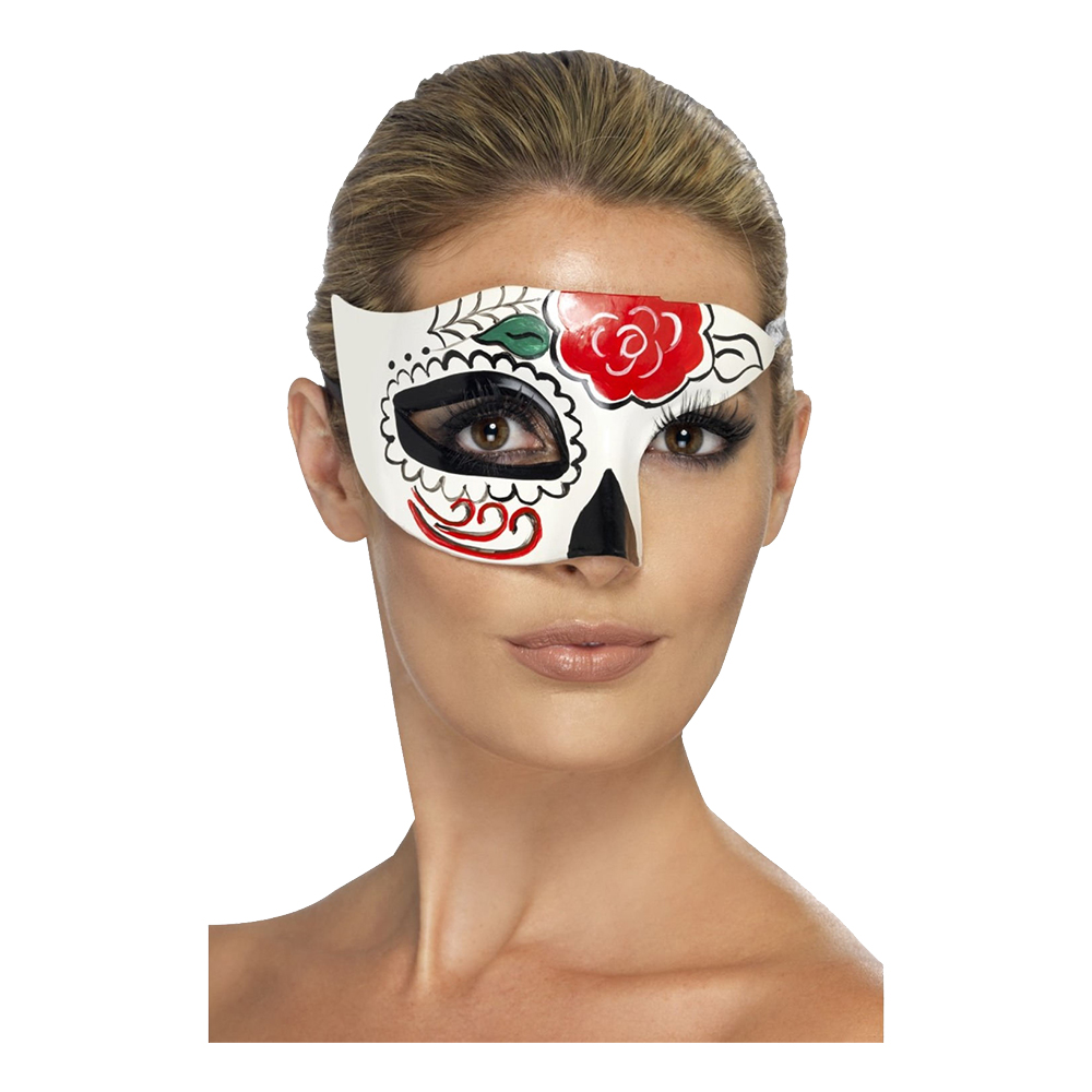 Day of the Dead Halv Ögonmask