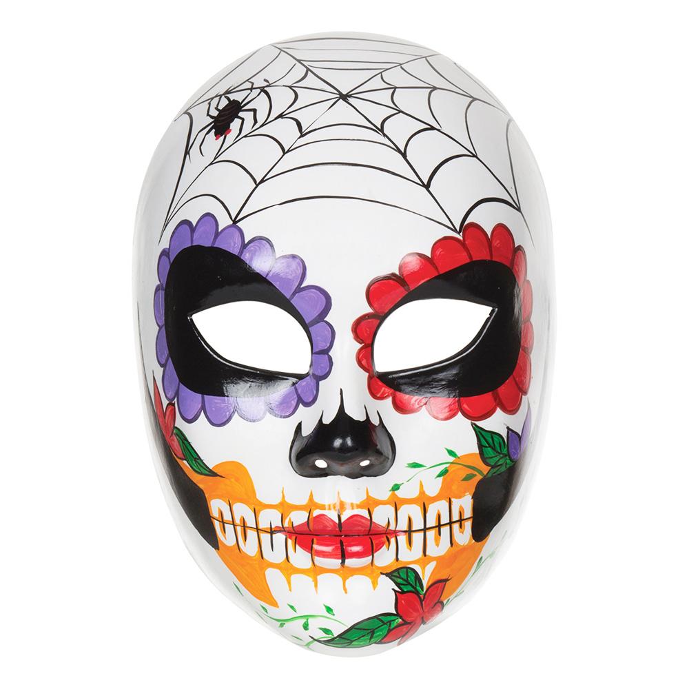 Day of the Dead Mask med Spindelnät