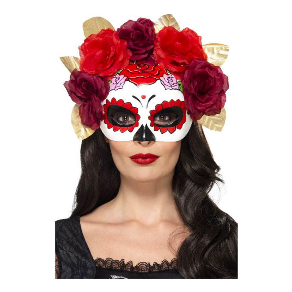 Day of the Dead Rosor Ögonmask