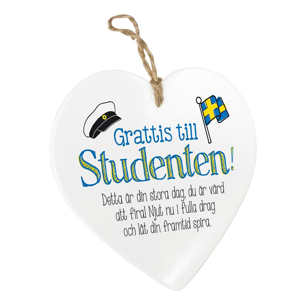 grattis student text Dekorasjonshjerte Student   Partyking.no grattis student text