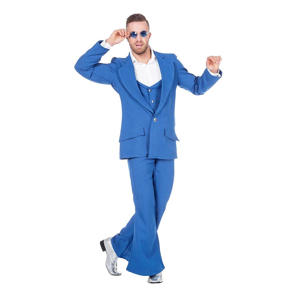Disco Kostym Blå Maskeraddräkt