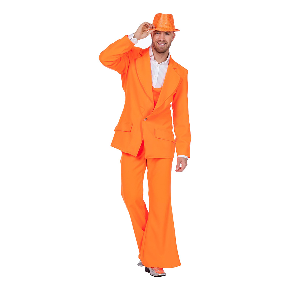 Disco Kostym Orange Maskeraddräkt