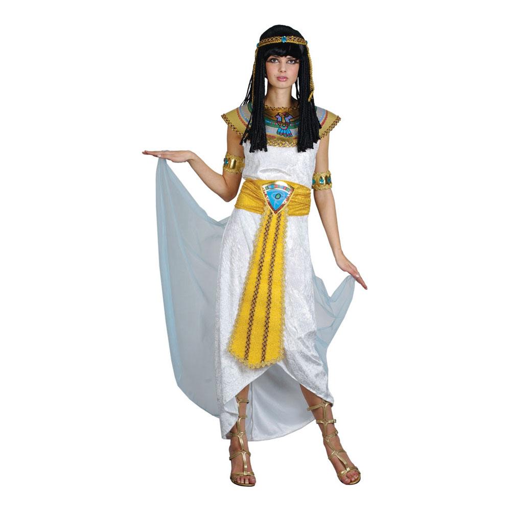 Drottning Cleopatra Vit Maskeraddräkt