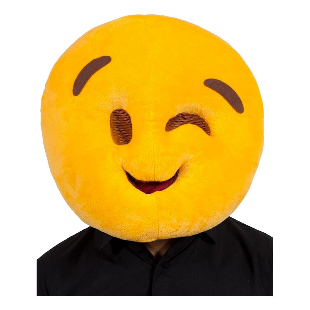 Emoji Wink Face Mask