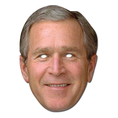 George Bush Pappmask