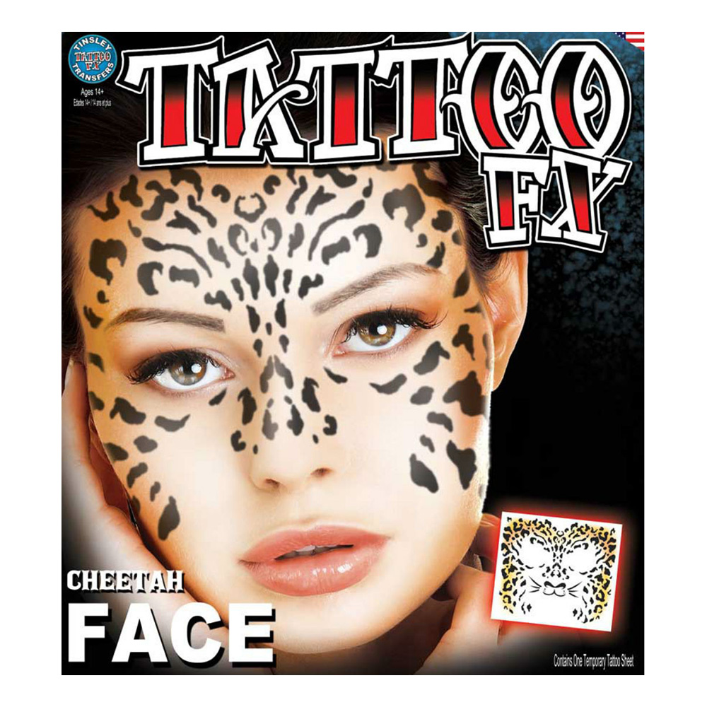 Gepardansikte Tatuering FX
