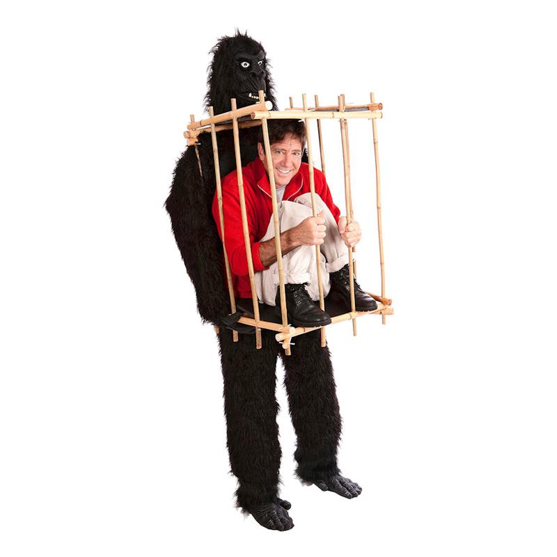 Gorilla med Bur Maskeraddräkt