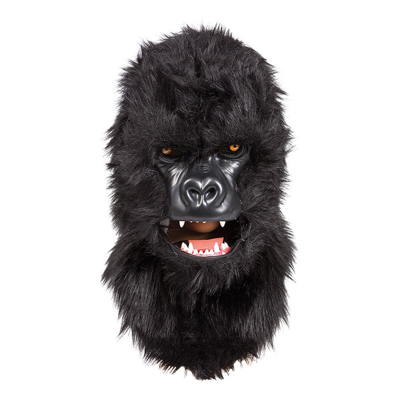 Gorillamask med Rörliga Käkar Deluxe