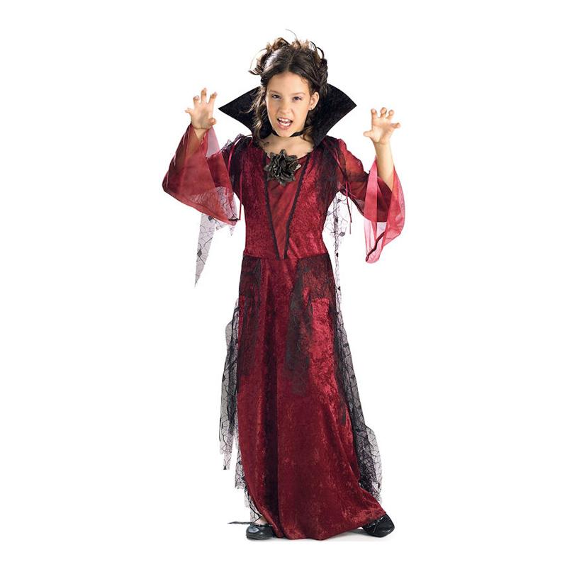 Gotisk Vampyra Barn Maskeraddräkt