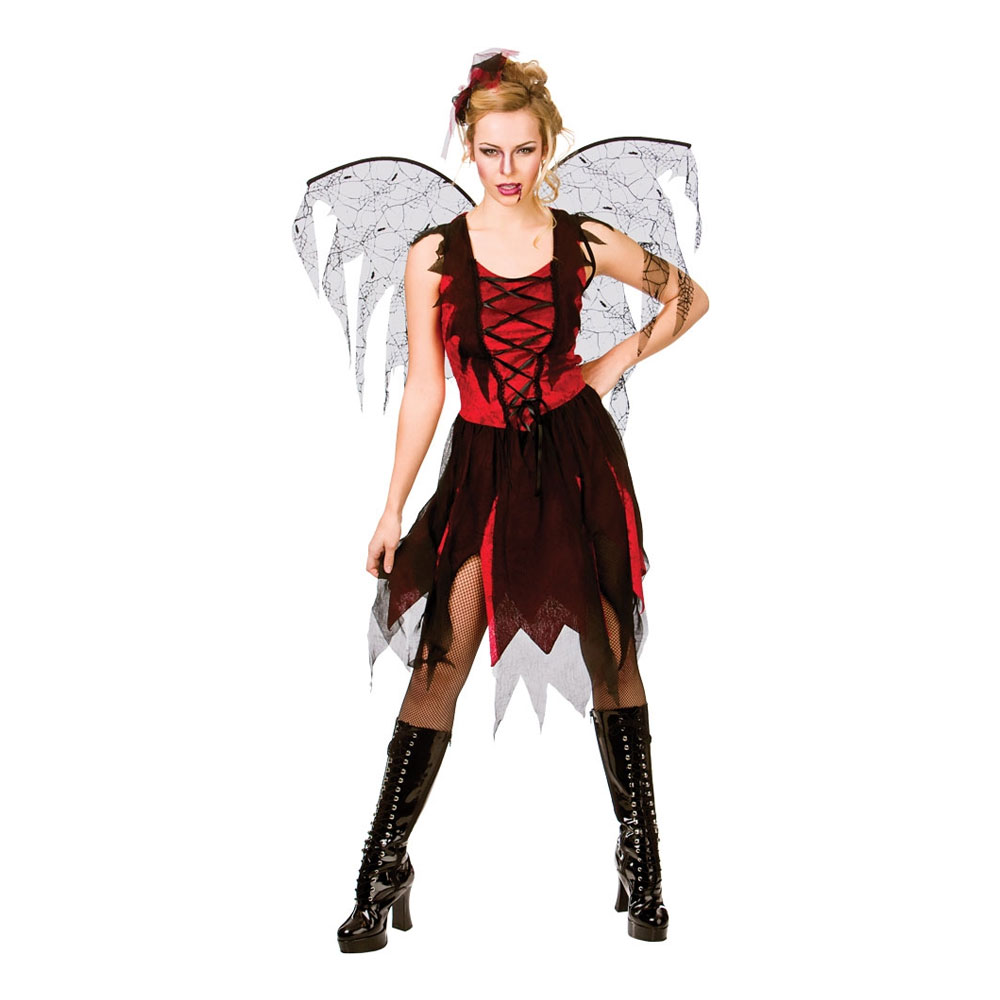 Gotisk Vampyrfé Maskeraddräkt