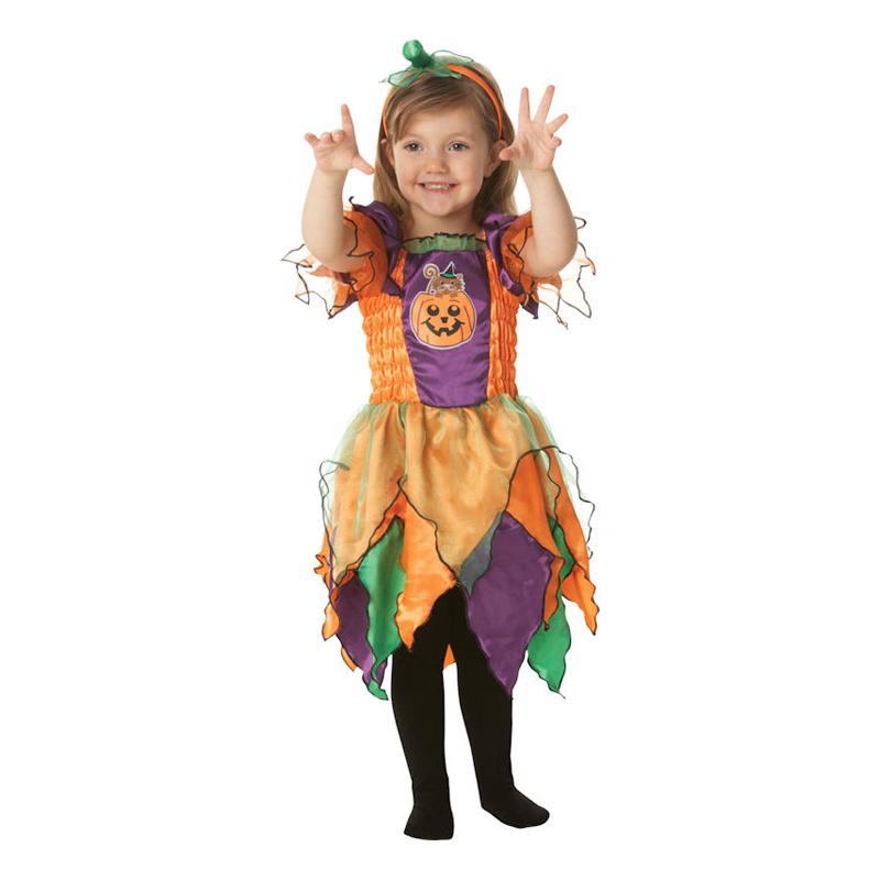 Halloweenhäxa Barn Maskeraddräkt