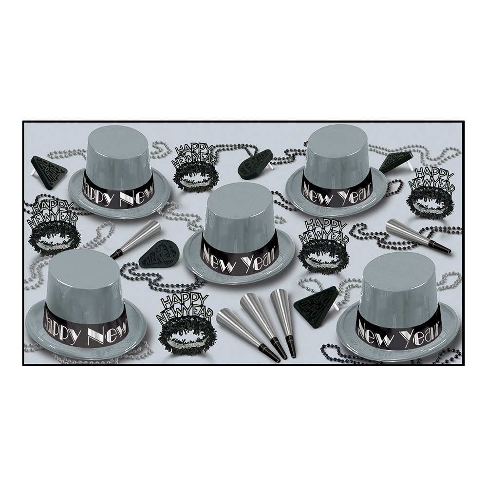 Happy New Year Silver Partykit