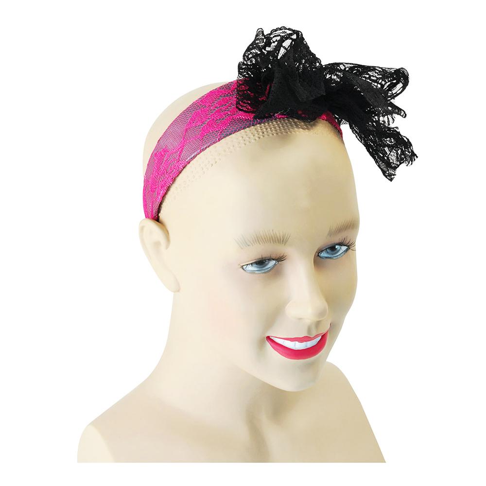 Hårband rosa med Rosett