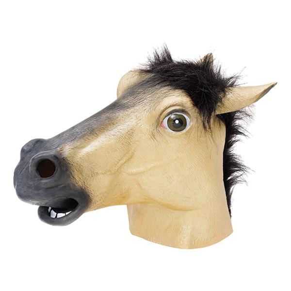Guldig Hästmask i Gummi
