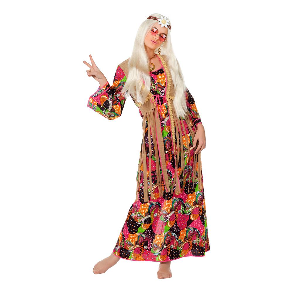 Hippie Långklänning Maskeraddräkt