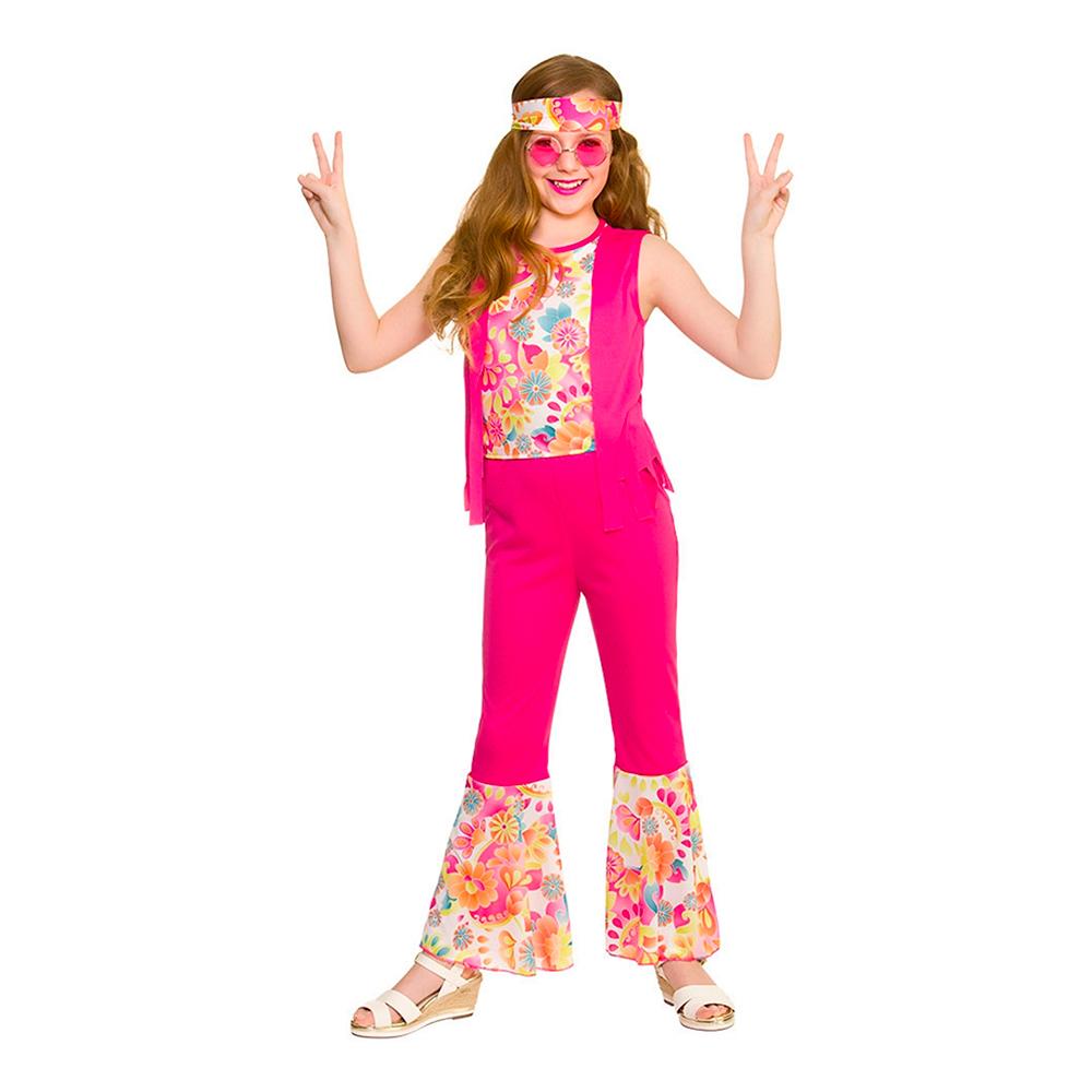 Maskeradkläder Barn - Hippieflicka  Rosa