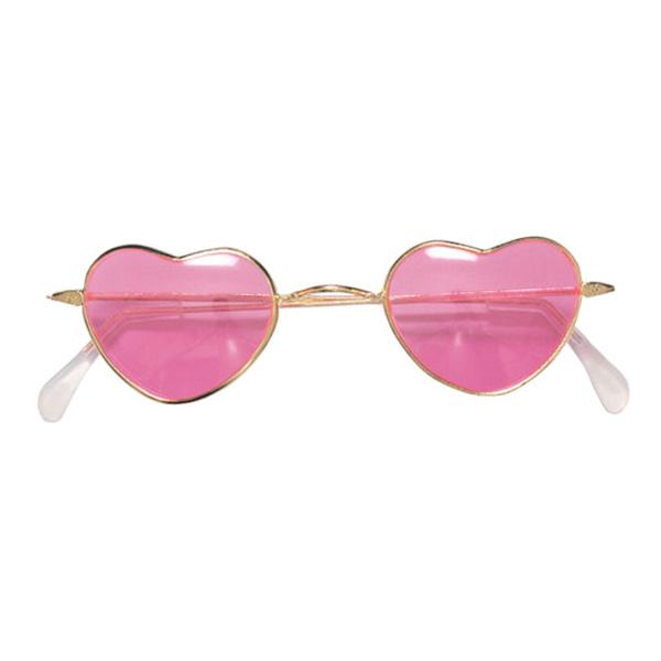 Hippieglasögon Hjärtformade