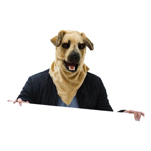 Hundmask med Rörliga Käkar Deluxe