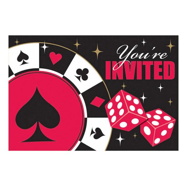 Inbjudningskort Casino