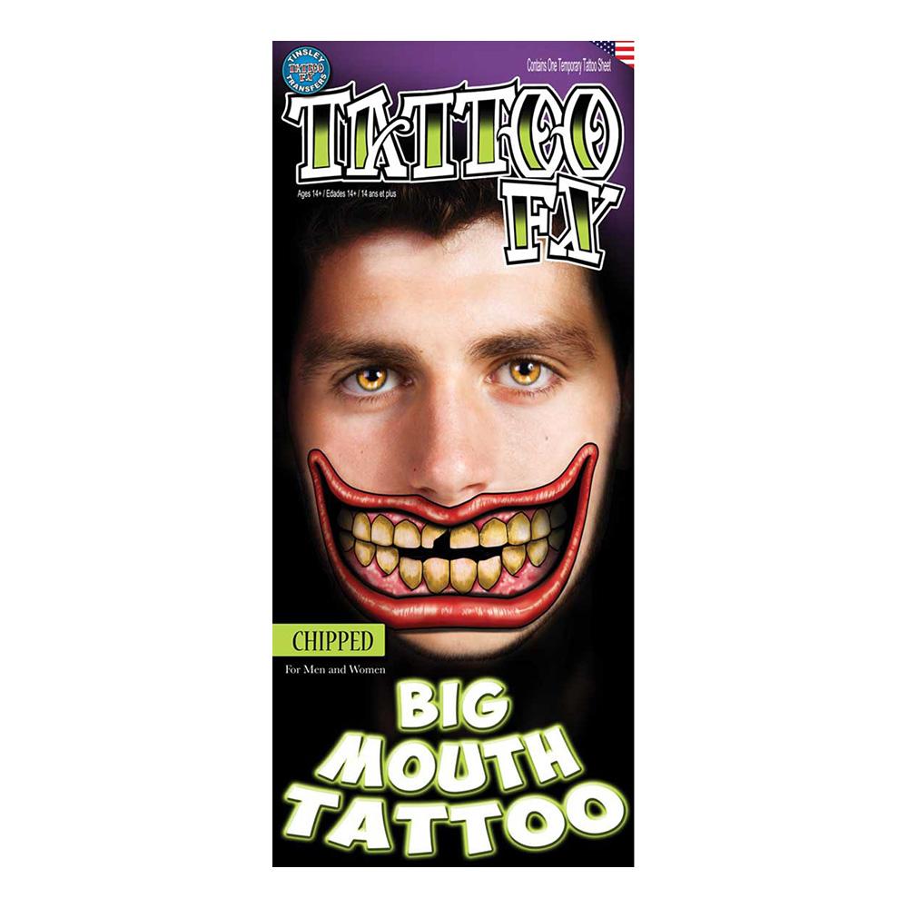 Jättemun Tatuering FX