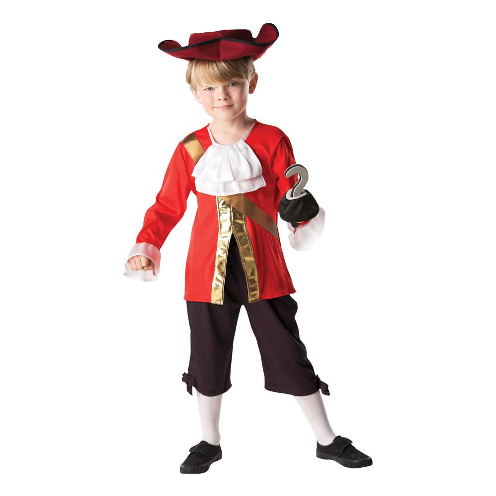 Maskeradkläder Barn - Kapten Krok   Ljusröd