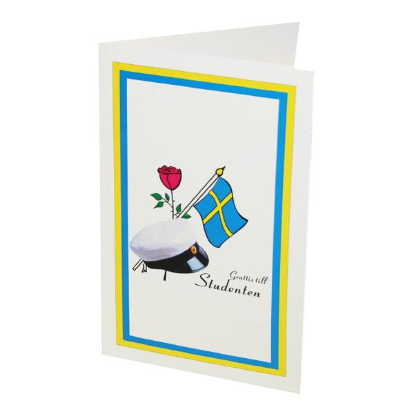 grattis på studenten kort Gratulationskort   Partykungen.se grattis på studenten kort