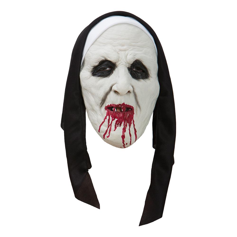Läskig Nunna Mask