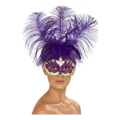 Lila Venetiansk Mask