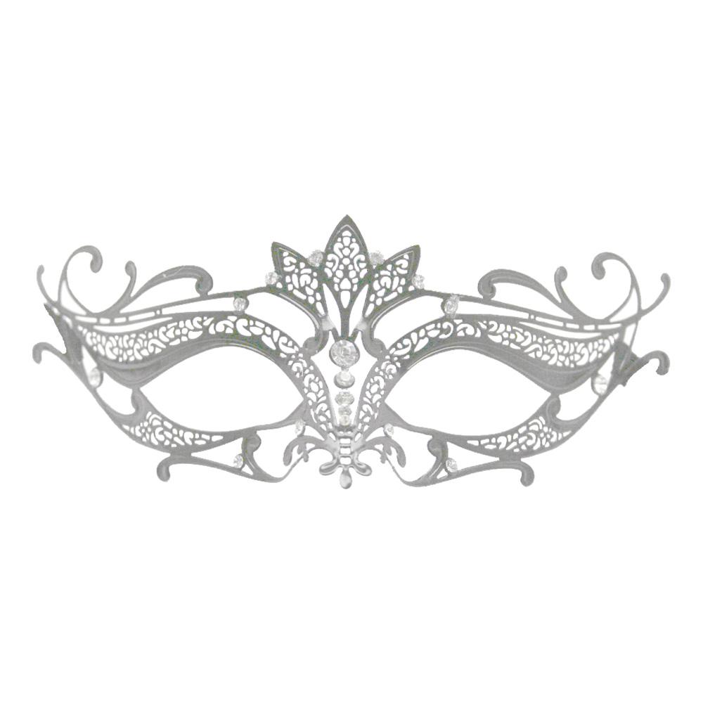 Metall Venetiansk Halvmask