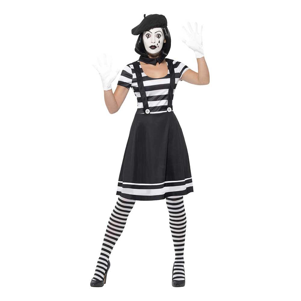 Mime Artist Dam Maskeraddräkt