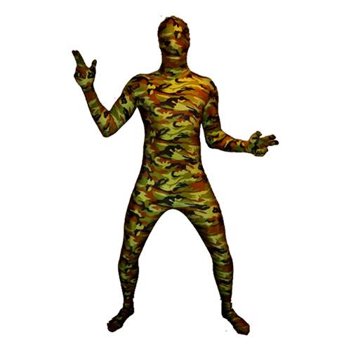 Morphsuit Kamouflage Maskeraddräkt